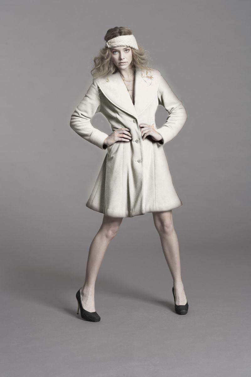El Ivory Print Jacket @Vaute Couture