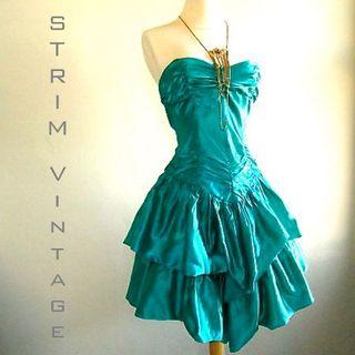 Teal 80's Dress