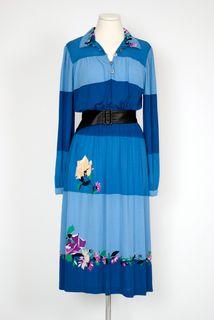 70's Blue Dress